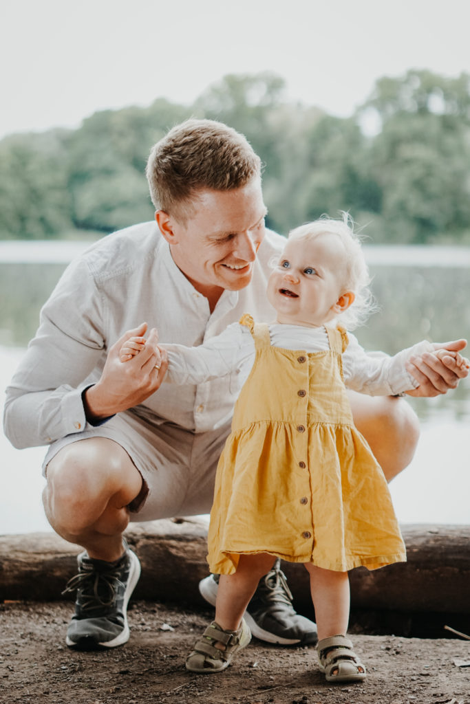 Papa-Tochter-Fotoshooting